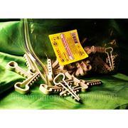 Хомут, зажим 14х7mm (дюбель-ёлочка) плоский для крепления проводов и кабеля - ISO 9001 фото