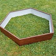 """Клумба """"шестиугольник Мир"""" 1 ярус, 60см фото"""