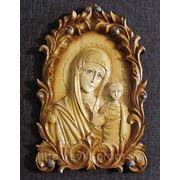 """Икона ручной работы """"Пресвятая Богородица"""" фото"""