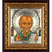 Икона Николай Чудотворец из серии триптих фото