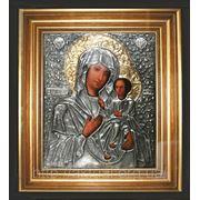 Икона Богоматерь Иверская и Спаситель венчальная пара фото
