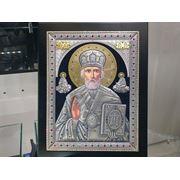 Икона Николай в серебре фото