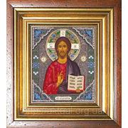 Икона Иисус Христос (к паре Владимирская с эмалями) фото