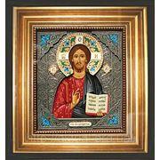 Икона Иисус Христос (к паре Владимирская с эмалями частично) фото
