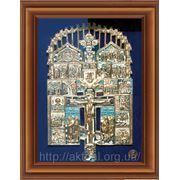 Икона Распятие Христово с избранными святыми фото