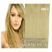 Волосы на клипсах 40 см. фото