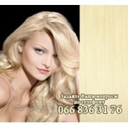 Волосы на заколках блонд фото