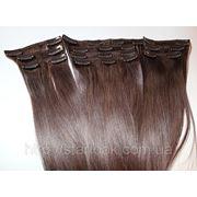 Набор натуральных волос на клипсах 52 см. Оттенок №900. Масса: 130 грамм. фото