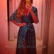 Платье лео шифон с запахом фото
