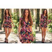 Платье шифон короткое краски фото