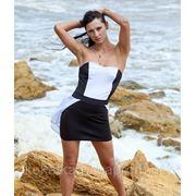Платье черно белое фото