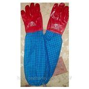 Перчатки резиновые с нарукавниками фото