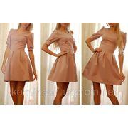 Платье рукав фонарик фото