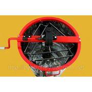 Медогонка 3 кассеты неповоротные Дадан 300 мм.бак алюминиевый кассеты оцинкованные фото