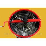 Медогонка 3 кассеты повортная Дадан, бак, кассеты, ротор нержавеющая сталь. фото