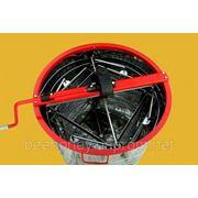 Медогонка 3 кассеты поворотные Дадан, бак, кассеты нержавеющая сталь. фото
