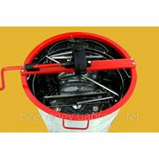Медогонка 2 кассеты поворотные Дадан, бак, кассеты нержавеющая сталь. фото