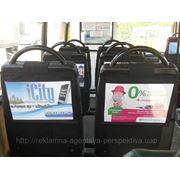 Рекламні чохли на сидіннях фото