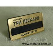 Бейдж пластиковый(золото,серебро) с окошком для вкладыша