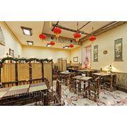 """Мебель из бамбука и дерева. Ресторан """"Брюс Ли"""" Киев фото"""
