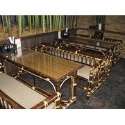 Столы и диванчики из бамбука фото