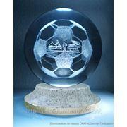 Лазерная 3Д гравировка внутри стекла фото