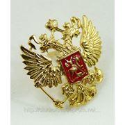 """Значок """"герб России, золотой"""", изготовление под заказ"""