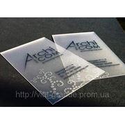 Визитки на пластике в Донецке фото