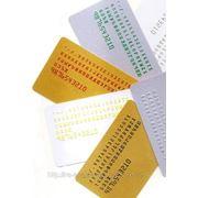 Изготовление пластиковых карт с эмбоссированием 500 штук фото