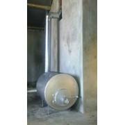 Печь отопительная, на дровах, пиролизная. 5кВт. 150 м куб. Экономнее чем буржуйка. фото