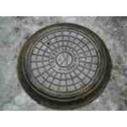 Люк чугунный канализационный тип ЛМ (А15) К 1-60 фото