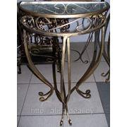 Стол-консоль, стекло (ковка, металл) 50см