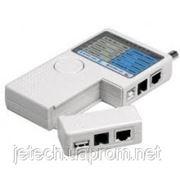Тестер кабельный RJ-45, RJ-12, USB, BNC, RX-1000 фото