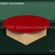 Мебель для раздевалок: Скамья Солнышко 13014 фото