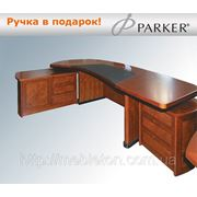 Стол руководителя 2446 RM Dial черная кожа фото