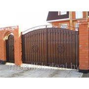 Ворота распашные, Ворота металлические, ворота калитка, Ворота кованые, ворота из нержавеющей стали, фото