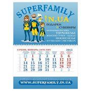 """Мини квартальный календарь """"Superfamily"""" фото"""