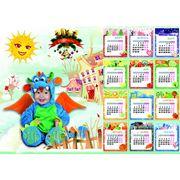Коллажи календари детские. фото