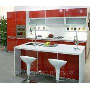 Кухни, пластиковые фасады в алюминиевом профеле фото