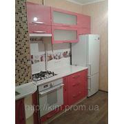 Кухня красный металик перламутр МДФ фото