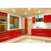 Кухни со стеклом, кухонная мебель в Киеве на заказ недорого фото