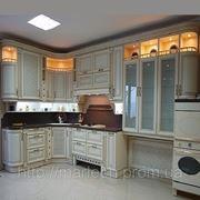 Кухни по индивидуальному заказу, купить кухню в Киеве, радиусные фасады фото