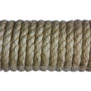Веревка льняная для деревянного дома фото