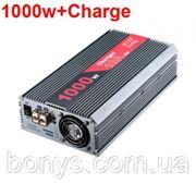 Инвертор автомобильный 12V/220V 1000W DY-800C (зарядное устройство) фото