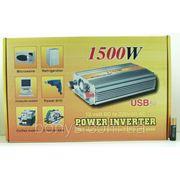 Преобразователь авто (инвертор) 12V-220V 1500W фото