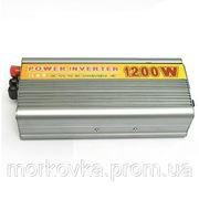 Преобразователь авто инвертор 12V-220V 1200W , купить Преобразователь напряжения инвертор 12-220V 1000W фото