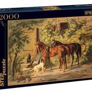 Коллекционные пазлы 2000 Лошади у крыльца, Русские музеи фото