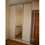 Встроенные шкафы купе фото Чернигов — фасад зеркало и ДСП
