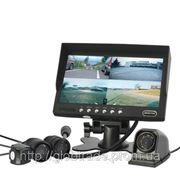 4 Камеры Заднего вида Автомобиля/Фронтальной Системы Мониторинга с 7-Дюймовым Монитором фото