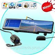 Все-в-одном Автомобильное Bluetooth Зеркало Заднего вида Kit (GPS, DVR, Беспроводная Камера и многое другое) фото